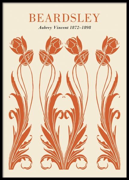Art Nouveau Orange Poster