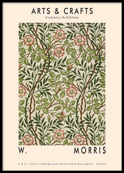 Arts & Crafts Green Poster