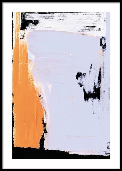 Lavender Abstract No2 Poster