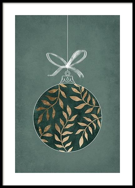 Golden Ornament Poster