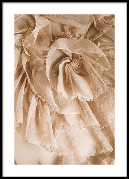 Golden Flower Tulle Poster