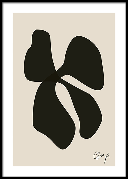 Monochrome Abstract No1 Poster