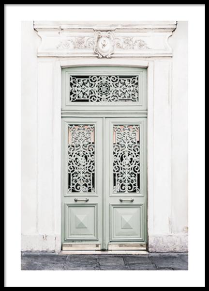 Dusty Green Door Poster
