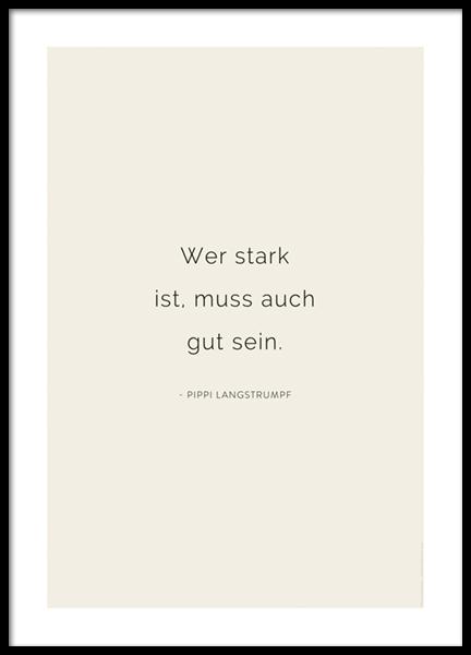 Pippi Langstrumpf Zitat Poster