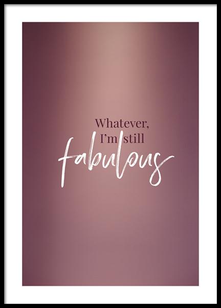 Still Fabulous Poster