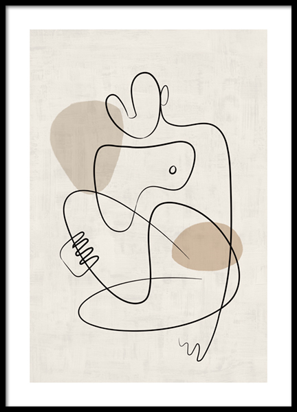 Line Art Figures No2 Poster