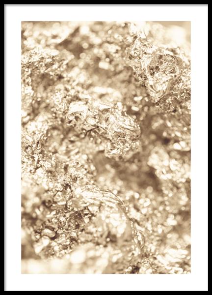 Golden Texture No1 Poster
