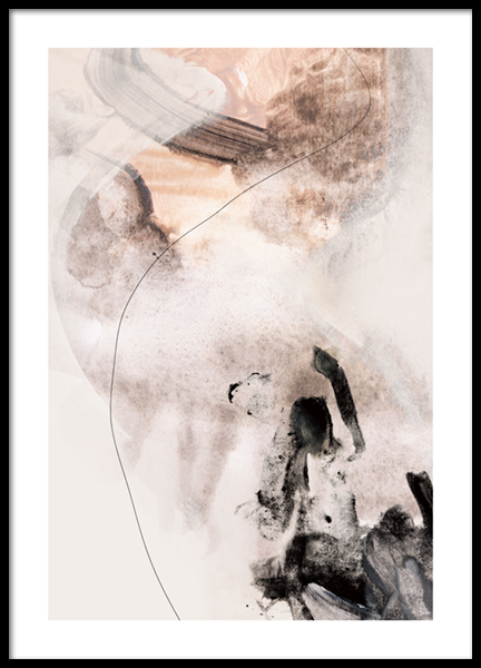 Abstract Terrain No2 Poster