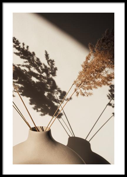 Pampas Grass Silhouette Poster