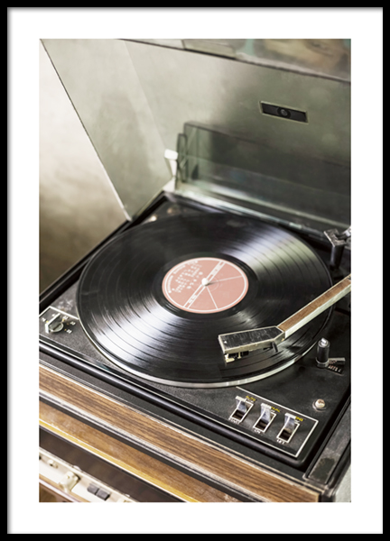 Vintage Record Player Poster