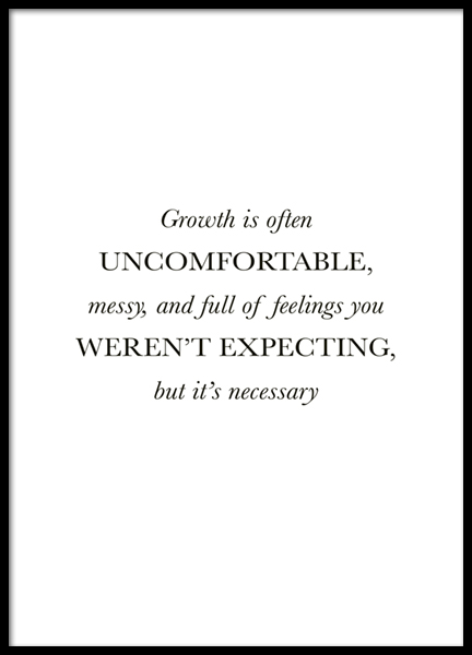 Growth is Necessary Poster