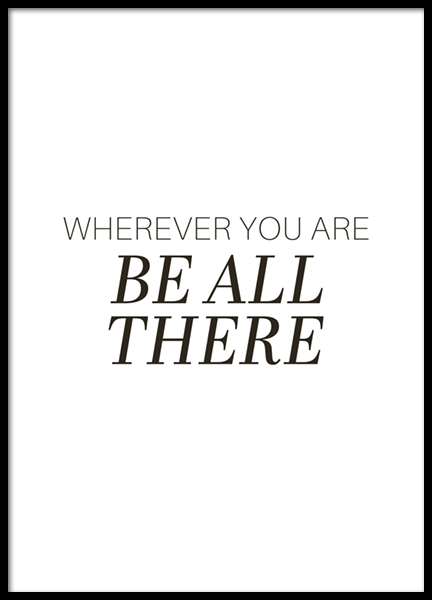 Be All There Poster