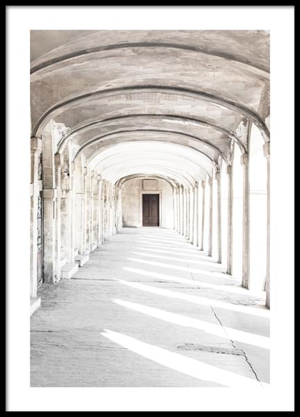 Sunlit Arches Poster