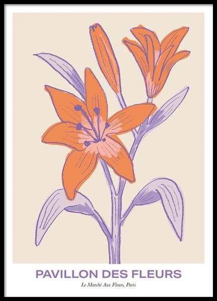 Pavillon Des Fleurs Poster