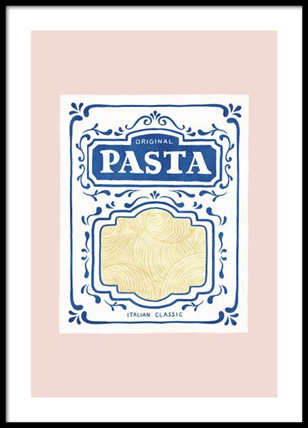 Pasta Illustration Poster