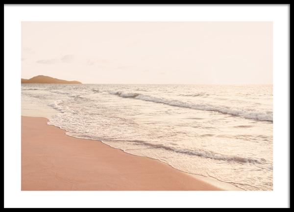 Peachy Beach Poster