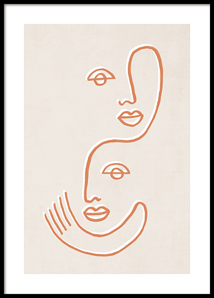 Twin Faces Poster