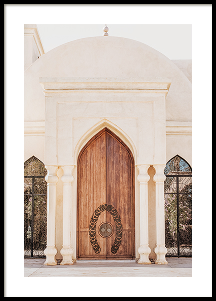 Wooden Arch Door Poster