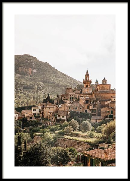 Mediterranean Valley Poster