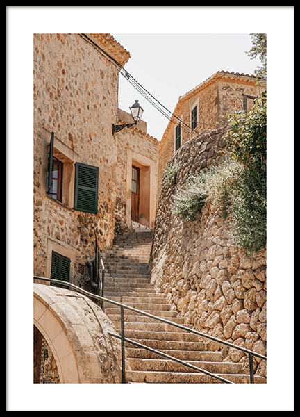 Stairs Of Deia Poster