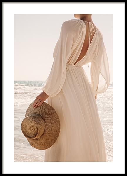 Afternoon Beach Walk Poster