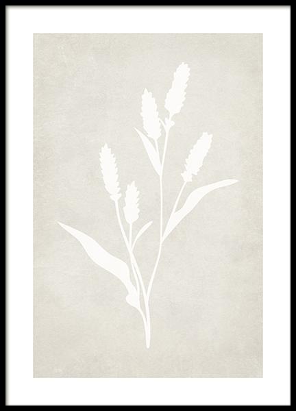 Lavender Silhouette Poster