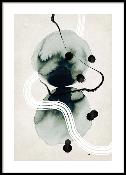 Ink Formations No1 Poster
