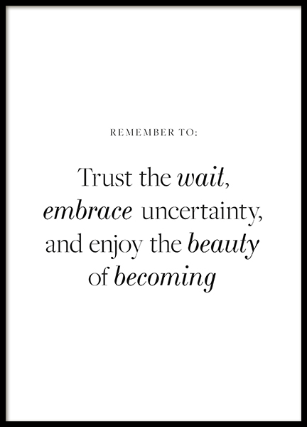 Beauty of Becoming Poster