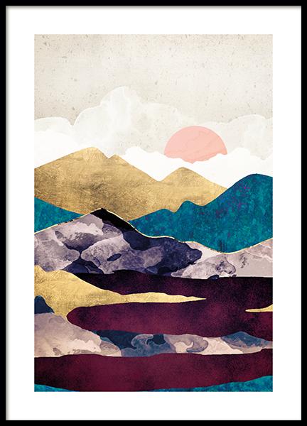 Wine Lake Poster
