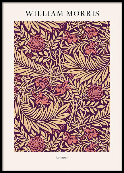 William Morris - Larkspur No2 Poster