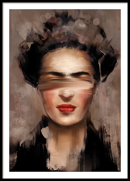 Kahlo in Beige Poster