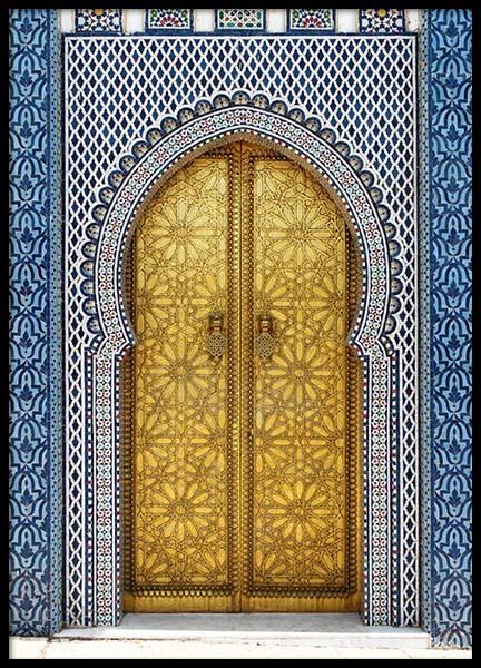Gold Door Poster