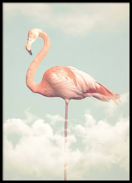 Flamingo In The Sky Poster in der Gruppe Poster / Tiere bei Desenio AB (2099)