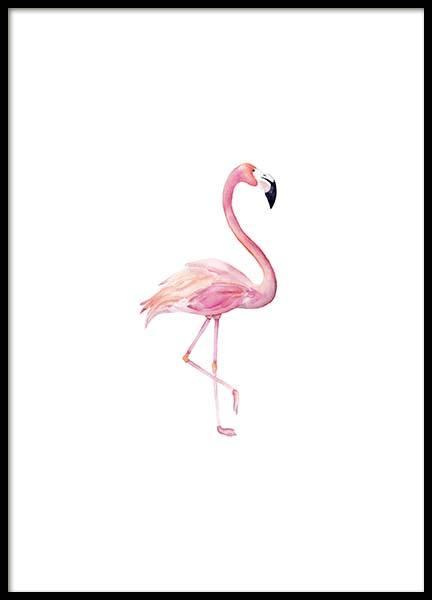 Flamingo Aquarelle  Poster