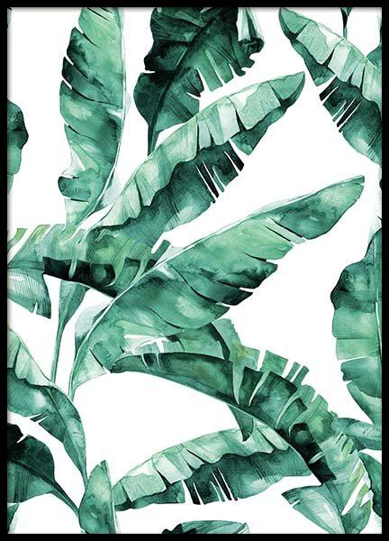Banana Leaves Pattern Poster