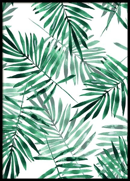 Palm Leaves Pattern Poster