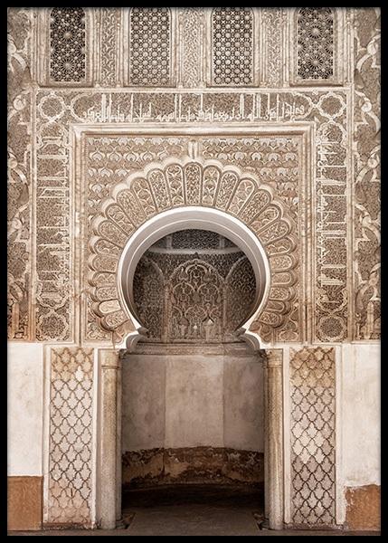 Marrakech Arch Poster