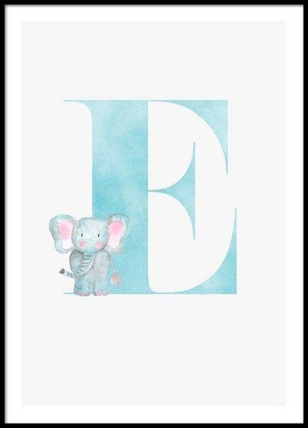 Alphabet E Poster