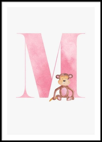 Alphabet M Poster