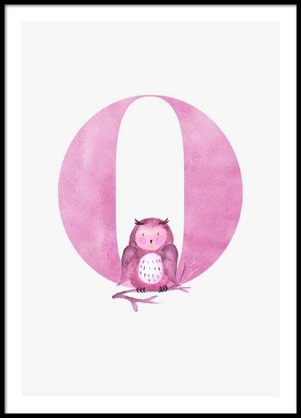 Alphabet O Poster