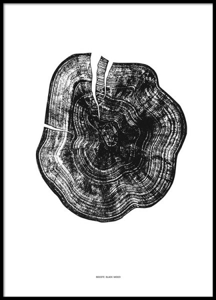 Black Wood Poster