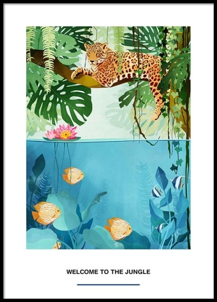 Welcome To The Jungle Poster in der Gruppe Poster / Kinder bei Desenio AB (2527)