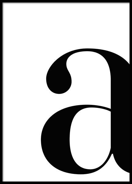 Letter A Poster in der Gruppe Poster / Typografie Poster bei Desenio AB (2614)