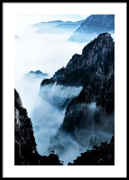 Blue Rocky Mountains Poster in der Gruppe Poster / Naturmotive bei Desenio AB (2702)