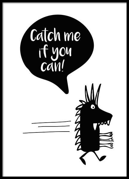 Catch Me If You Can Poster in der Gruppe Poster / Kinder bei Desenio AB (2801)