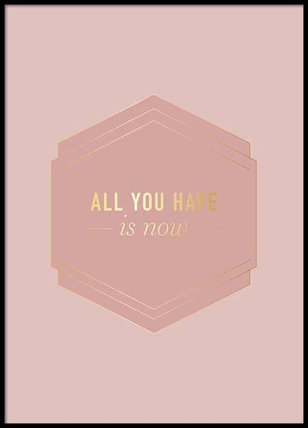 All You Have Pink Poster in der Gruppe Poster / Typografie Poster bei Desenio AB (2852)