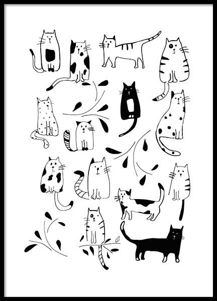 Cats Poster in der Gruppe Poster / Kinder bei Desenio AB (3117)