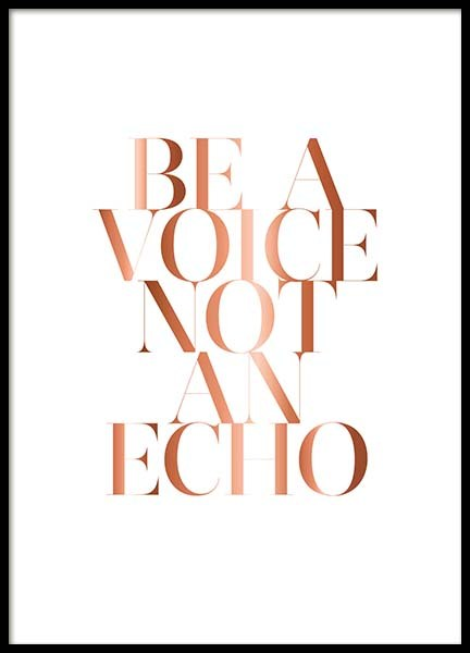 Be A Voice Poster in der Gruppe Poster / Typografie Poster bei Desenio AB (3402)