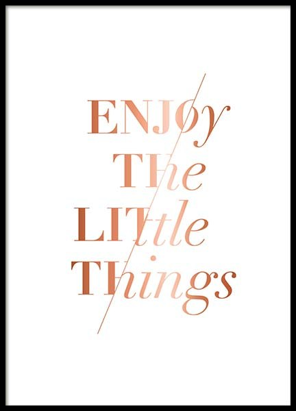 Enjoy The Little Poster in der Gruppe Poster / Typografie Poster bei Desenio AB (3406)