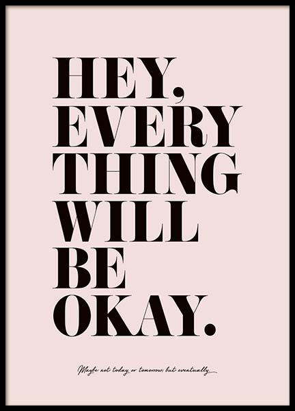 Everything Will Be Okay Poster in der Gruppe Poster / Typografie Poster bei Desenio AB (3609)
